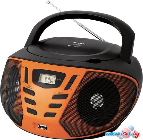 Портативная аудиосистема BBK BX193U (черный/оранжевый) в Могилёве