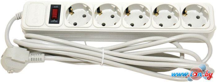 Сетевой фильтр 5bites 5 розеток, 5 м, белый (SP5-W-50) в Могилёве