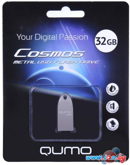 USB Flash QUMO Cosmos Silver 32GB в Могилёве
