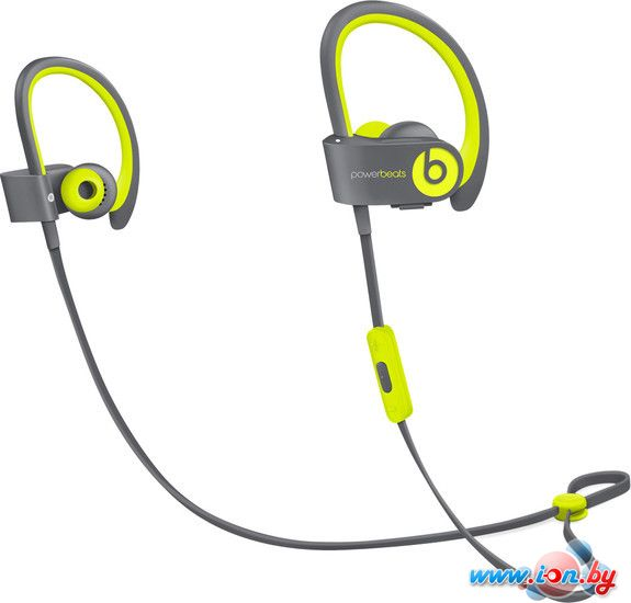 Наушники с микрофоном Beats Powerbeats2 Wireless (Shock Yellow) [MKPX2] в Могилёве