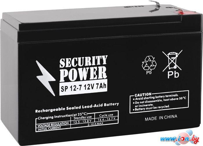 Аккумулятор для ИБП Security Power SP 12-7 F1 (12В/7 А·ч) в Бресте