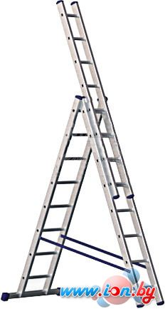 Лестница-стремянка Алюмет трехсекционная универсальная 5311 3x11 в Гомеле