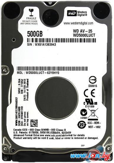 Жесткий диск WD AV-25 500GB (WD5000LUCT) в Гродно