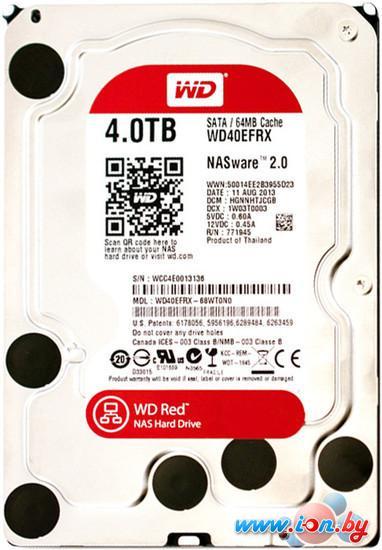 Жесткий диск WD Red 4TB (WD40EFRX) в Могилёве
