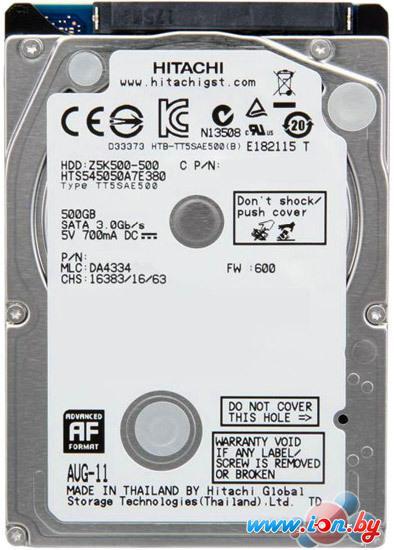Жесткий диск Hitachi Travelstar Z5K500 500GB (HTS545050A7E380) в Могилёве