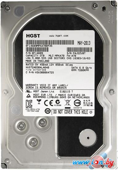 Жесткий диск Hitachi Ultrastar 7K4000 3TB (HUS724030ALA640) в Могилёве