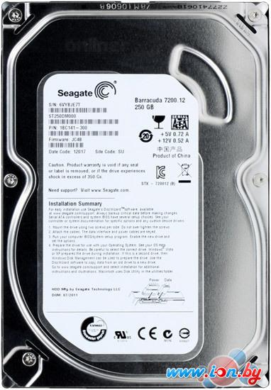 Жесткий диск Seagate Barracuda 7200.12 250GB (ST250DM000) в Гомеле