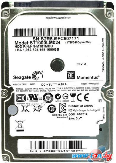Жесткий диск Seagate Momentus 1TB (ST1000LM024) в Могилёве