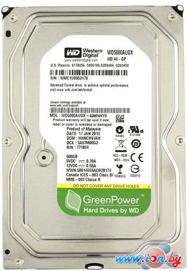 Жесткий диск WD AV-GP 500GB (WD5000AUDX) в Гродно
