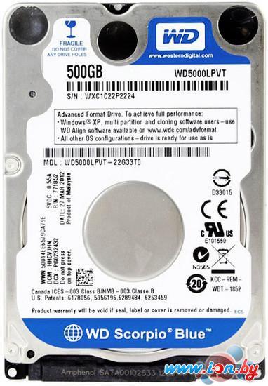Жесткий диск WD Blue 500GB (WD5000LPVX) в Могилёве