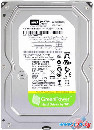 Жесткий диск WD AV-GP 500GB (WD5000AVDS) в Гомеле