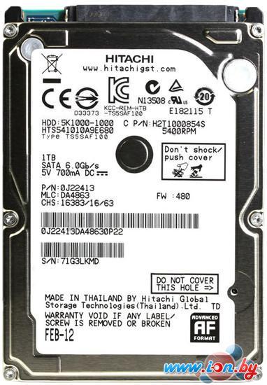 Жесткий диск Hitachi Travelstar 5K1000 1TB (HTS541010A9E680) в Гомеле