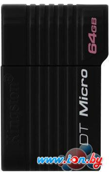 USB Flash Kingston DataTraveler Micro 64GB Black (DTMCK/64GB) в Могилёве