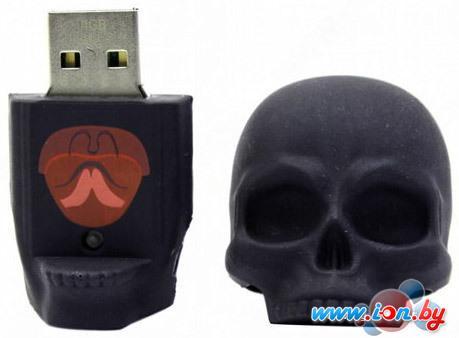 USB Flash Iconik Flash Drive Черный Череп 4 Гб (RB-SСULLB-4GB) в Могилёве