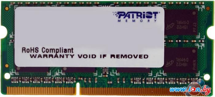 Оперативная память Patriot Signature 4GB DDR3 SO-DIMM PC3-10600 (PSD34G13332S) в Могилёве