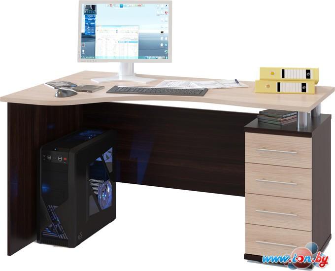 Компьютерный стол Сокол КСТ-104.1 правый (венге/беленый дуб) в Гродно