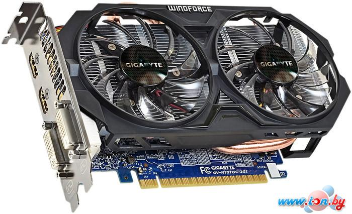 Видеокарта Gigabyte GeForce GTX 750 Ti OC 2GB GDDR5 (GV-N75TOC-2GI) в Могилёве