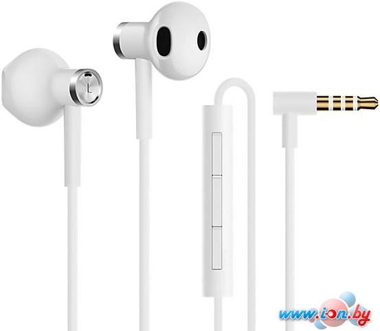 Наушники с микрофоном Xiaomi Dual Driver Earphones (белый) в Могилёве
