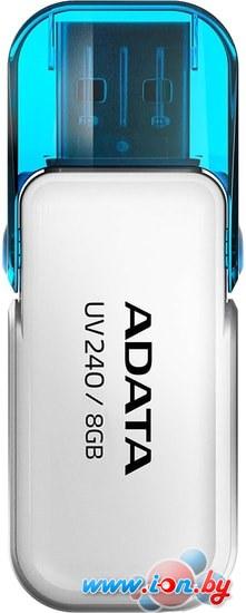 USB Flash A-Data UV240 8GB (белый) в Могилёве