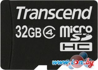 Карта памяти Transcend microSDHC (Class 4) 32GB + адаптер (TS32GUSDHC4) в Могилёве