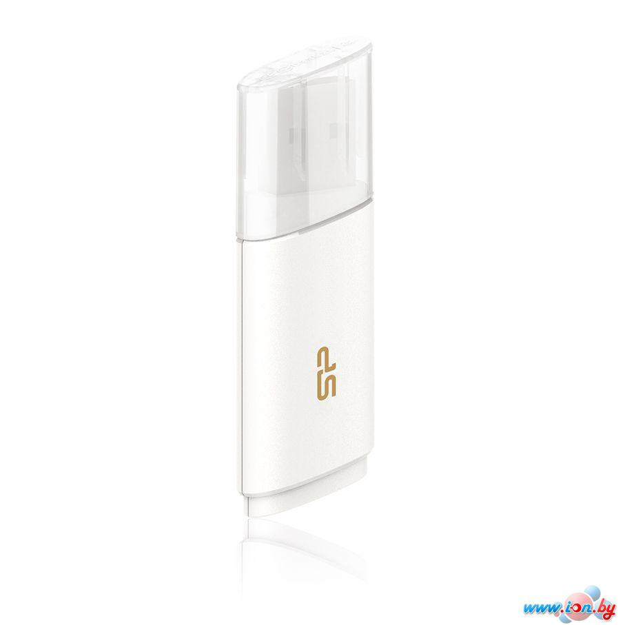 USB Flash Silicon-Power Blaze B06 White 16GB (SP016GBUF3B06V1W) в Могилёве