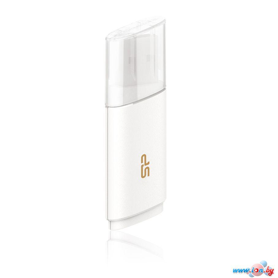 USB Flash Silicon-Power Blaze B06 White 32GB (SP032GBUF3B06V1W) в Могилёве