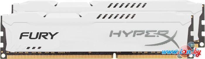 Оперативная память Kingston HyperX Fury White 2x4GB KIT DDR3 PC3-12800 (HX316C10FWK2/8) в Могилёве