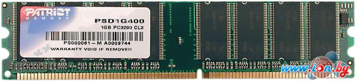 Оперативная память Patriot 1GB DDR PC-3200 (PSD1G400) в Могилёве
