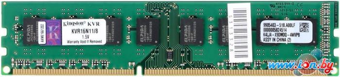 Оперативная память Kingston ValueRAM 8GB DDR3 PC3-12800 (KVR16N11/8) в Могилёве