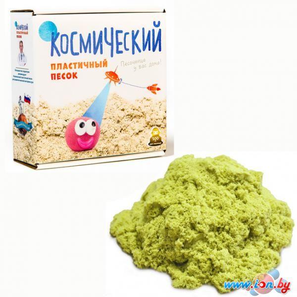 Кинетический песок Космический 1 кг зеленый + песочница+формочки в Витебске
